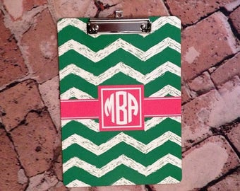 SALE Personalized Monogram Dry Erase Clip Board - Design on BOTH sides - Office, Teacher, Coach Gift - Custom Design