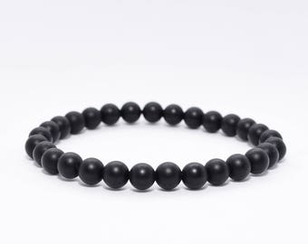 Black Onyx Bracelet. Boho Jewelry. Minimalist Men Bracelet. Strength Bracelet. Gift for men.Men's Black Bracelet. Men's Balance Bracelet.