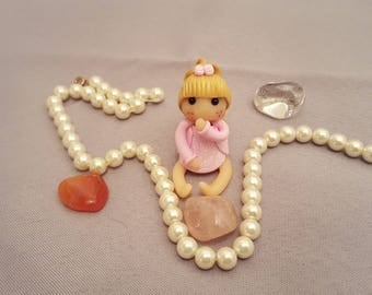 made of polymer clay doll figurine