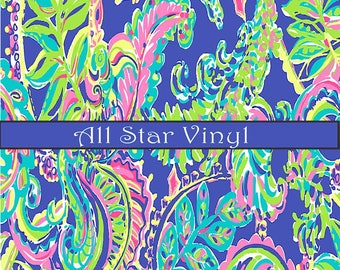 "Lilly vinyl, Adhesive vinyl, Pattern vinyl, Craft Vinyl, Heat transfer vinyl, HTV, Outdoor, 8.5""x11"", 12''X12'',12""x24"""