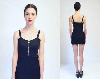 20%OFF Vtg Gianni Versace Versus Black Stretchy Mini Dress