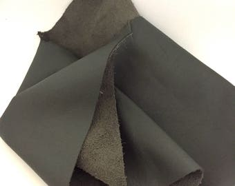 Gray Leather Scrap / Grey Leather / Gray Leather Fabric / Grey Leather Fabric / Leather Remnant / Genuine Leather / Leather Scrap