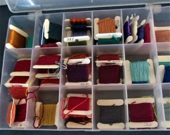 Embroidery thread 50 cards various many colors in organization storage container
