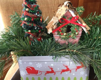 Birdhouse Christmas Centerpieces FREE SHIPPING Holiday Decor Rustic Home Decor Farmhouse Decor Tabletop Decor Gift Michelle Dornstreich