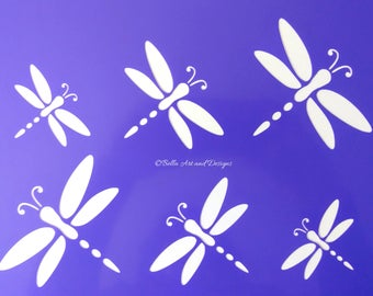 Assorted Dragonfly stencils  (Price is per photo/design) *Free gift with every order*