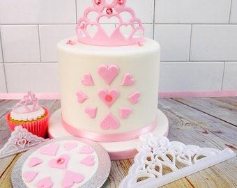Cake Decorating Tiara Crown Cutter Set of 2