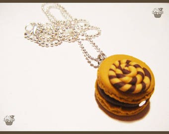 Necklace macaroon lollipop fimo gluttony candy sweet pastry