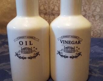 Sweet Home Ceramic Oil and Vinegar Set