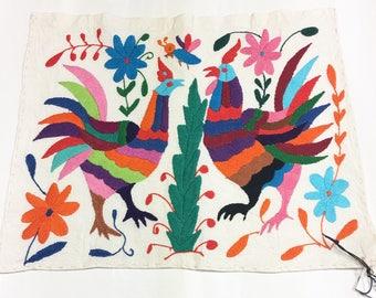 Otomi Fabric Made To Order Multi Colour Animal Bird
