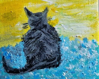 Iggy (Miniature Acrylic Painting with Easel)