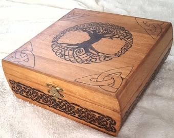 Tree of Life Woodburned Box