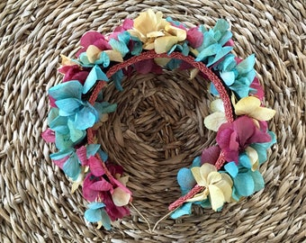Preserved flowers or fabric headbands