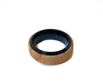 20% OFF SUMMER SALE Men's cork ring, stainless steel Portuguese cork ring, masculine cork ring, unique ring, unique men jewelry, men's jewel
