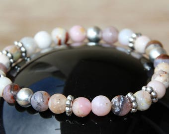 morganite on elastic bracelet