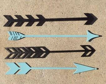 """Arrows - Metal, Plasma Cut, 2"""" tall x 16"""" wide"""