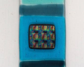 FUSED GLASS SUNCATCHER turquoise