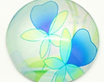 Cabochon flowers 30mm round