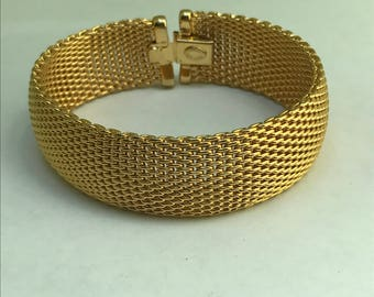 Mod Modern Mesh Bracelet . Gold filled jewelry