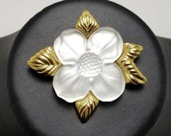 MONET Dogwood Flower Pin