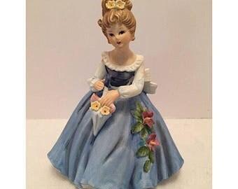 Vintage Giftcraft Porcelain Girl Figurine