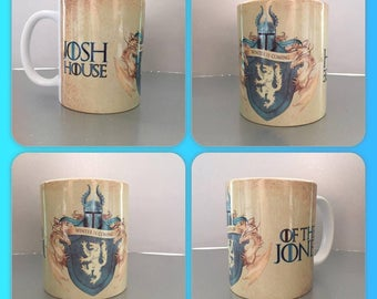 personalised mug cup game of thrones crest shield stark tully arryn lannister