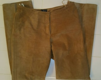 Tan Suede Leather Pants by INC SZ 8