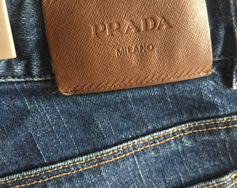 Vintage Prada Authentic Tapered Cropped Denim Jeans