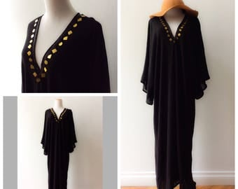 kaftan dress, caftan dress, black kaftan, black caftan, black and gold caftan, black and gold kaftan, black dress,
