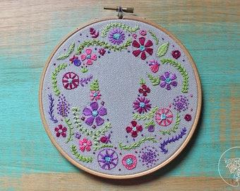 Embroidered flowers uterus