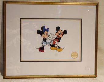 Mickey Mouse And Minnie Serigraph