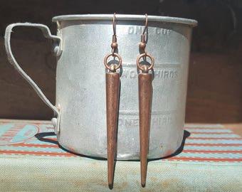 Copper Spike Earrings