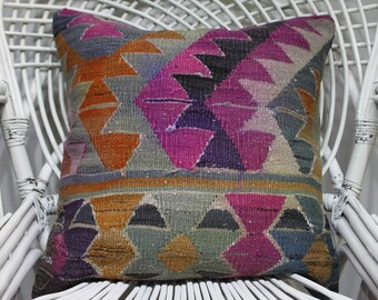 outdoor seat cushions turkish pillow cover body pillow cover kilim pillows cushion cover 20x20 colored pillow case geometric pillow 1748