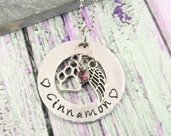 Dog Memorial Jewelry - Dog Memorial Necklace - Dog Remembrance - Pet Remembrance - Dog Loss Jewelry - Pet Loss Jewelry