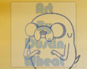 Jake the Dog - Adventure Time Metallic Print