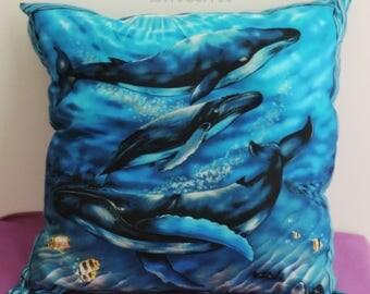 Small cushion whale theme