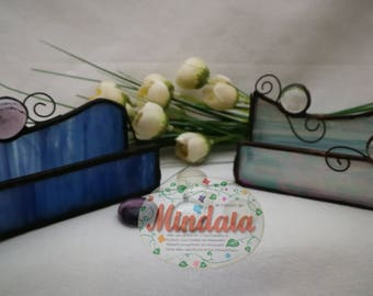 Tiffany glass napkin. Card Tiffany Glass. Presents for her. Ideal gift for the.