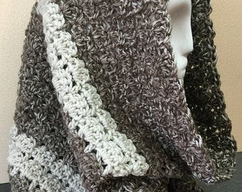 Brown Hooded Cowl, Shell Stitch Cowl, Hooded Cowl, Brown Cowl Scarf, Crochet Cowl Scarf, Winter Cowl, Gifts for Her, Cowl Scarf