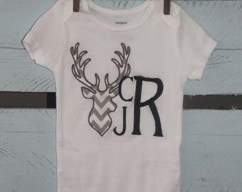 Personalized deer shirt/onesie