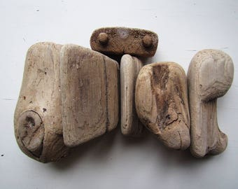6 Small Chunky Driftwood Pieces, Natural Driftwood, Beach Finds, Craft Wood, Natural Driftwood For Sale, Driftwood Assortment