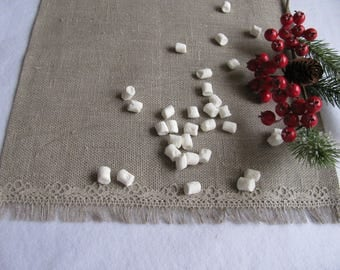 Placemats Natural Raw Linen Placemats Burlap Placemats With Lace