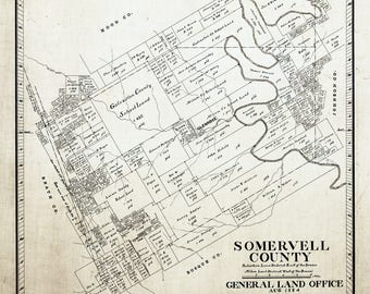 1884 Map of Somervell County Texas