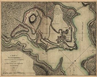 1777 Map of Fort Ticonderoga