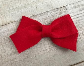 Red bow  Nylon Headband  Hair Clip