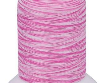 Textured thread WOOLLY NYLON, , mini-king special overlocker 1 000m / Multicolor VA102 Pink-white