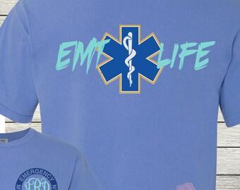 Monogrammed EMT Life Personalized Customized Nursing EMS Medic
