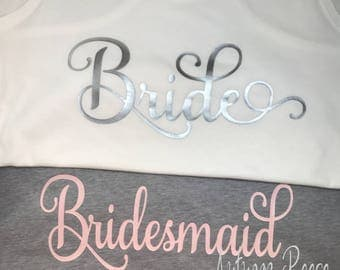 Ladies Pajama Pants and Tank for Bachelorette Party - Cruise - Wedding - Birthday - Bridal Party - Beach - Monogrammed Christmas Bridesmaids