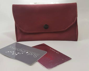 faux Burgundy leather wallet