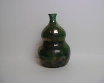 Raku Burst Stoneware Vase