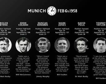 LIMITED EDITION Manchester United Busby Babes Canvas