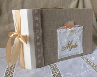 "Album birth linen and ivory ""Teddy"" AOR"